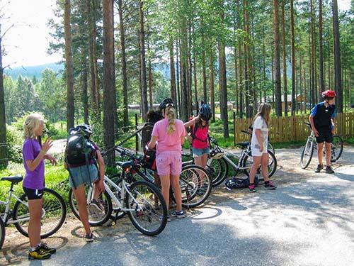 sommerleir aktiviteter sykkel