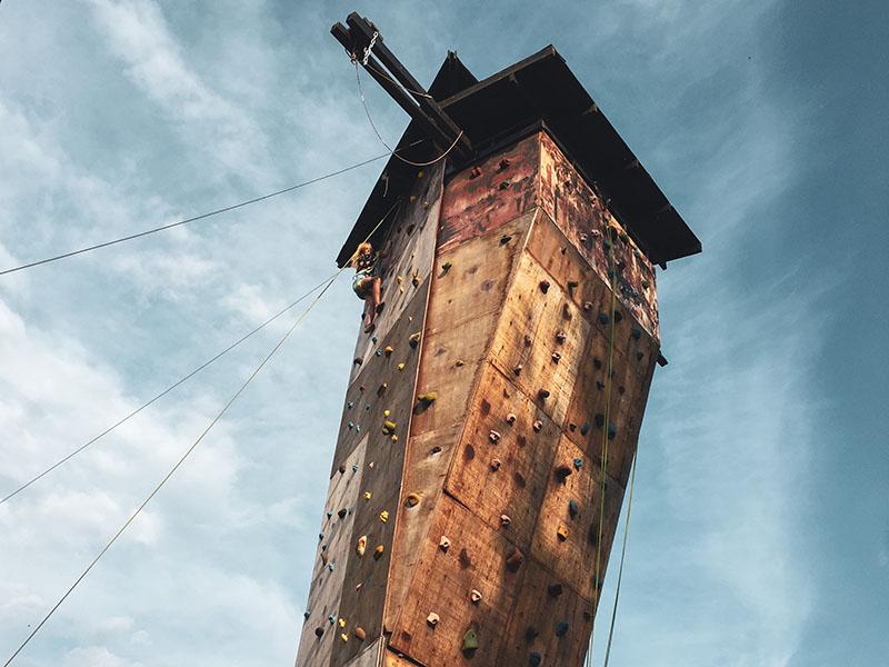 Leirskole klatring